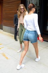 Gigi Hadid and Bella Hadid - Outside Gigi