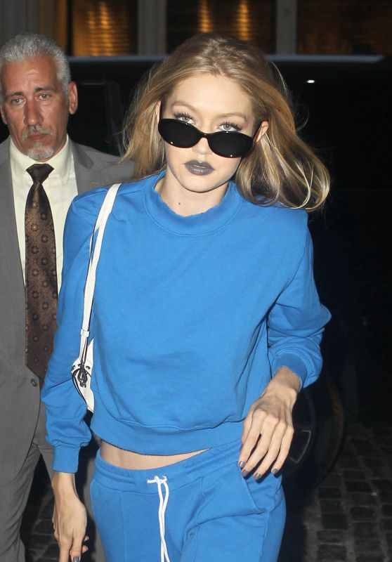 Gigi Hadid in all Blue - New York City 07/19/2017