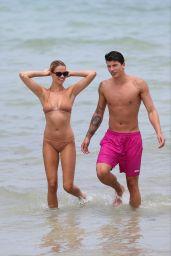 Hailey Clauson in Bikini - Miami Beach, Florida 07/22/2017