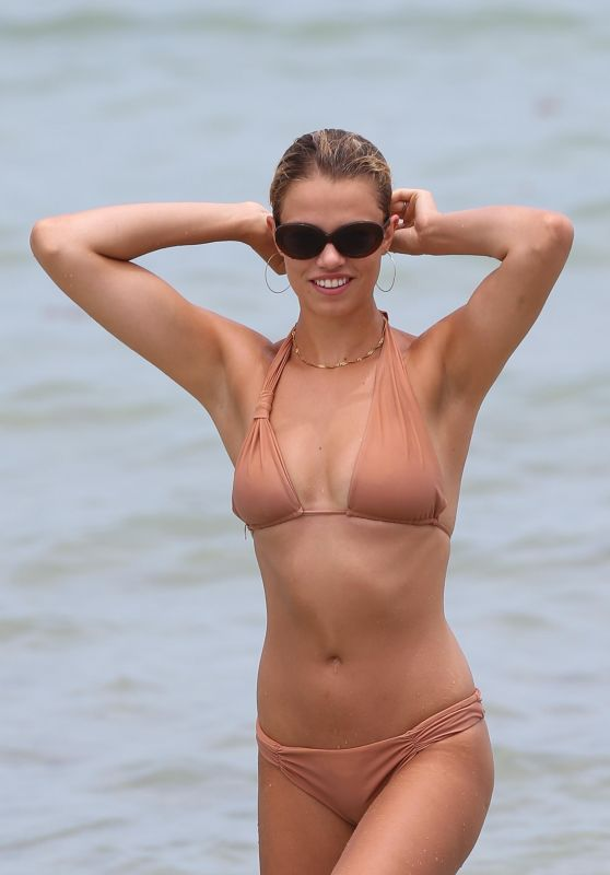 Hailey Clauson in Bikini - Miami Beach, Florida 07/22/2017
