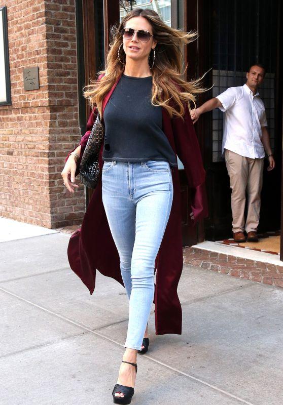 Heidi Klum Street Fashion - New York 07/13/2017