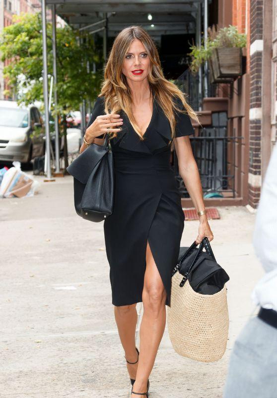 Heidi Klum Style - New York 07/11/2017