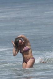 Hilary Duff in a Bikini - With a Mystery Man in Malibu,  07/09/2017