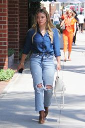 Hilary Duff in Casual Outfit - Beverly Hills 07/28/2017