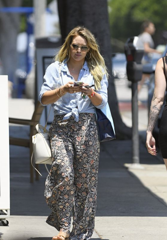Hilary Duff - Leaves a SPA in Santa Monica 07/05/2017