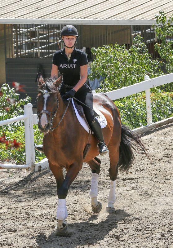 Iggy Azalea - Equestrian training in Westlake, LA 07/27/2017