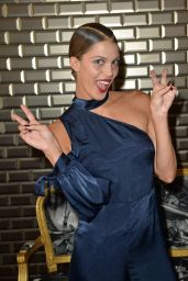 Iris Mittenaere (Miss Universe 2016) at the Jean Paul Gaultier Fashion Show in Paris 07/05/2017