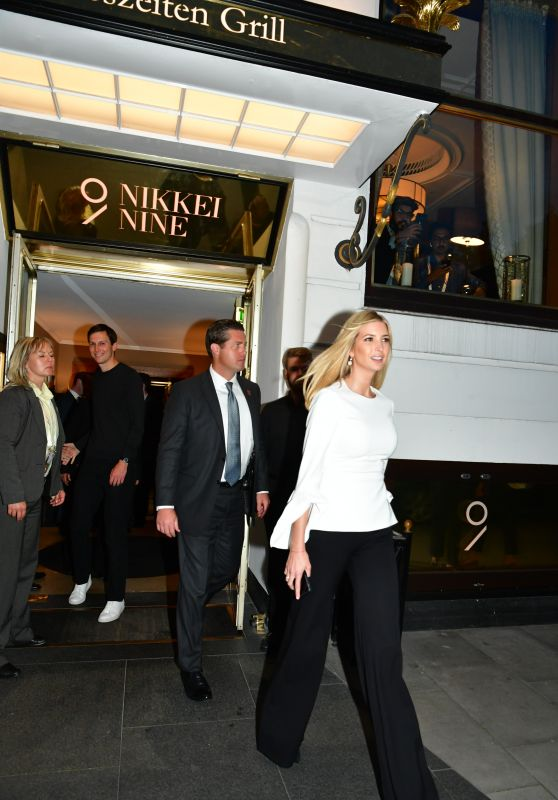 Ivanka Trump at Nikkei Nine Restaurant in Hamburg, Germany 07/06/2017