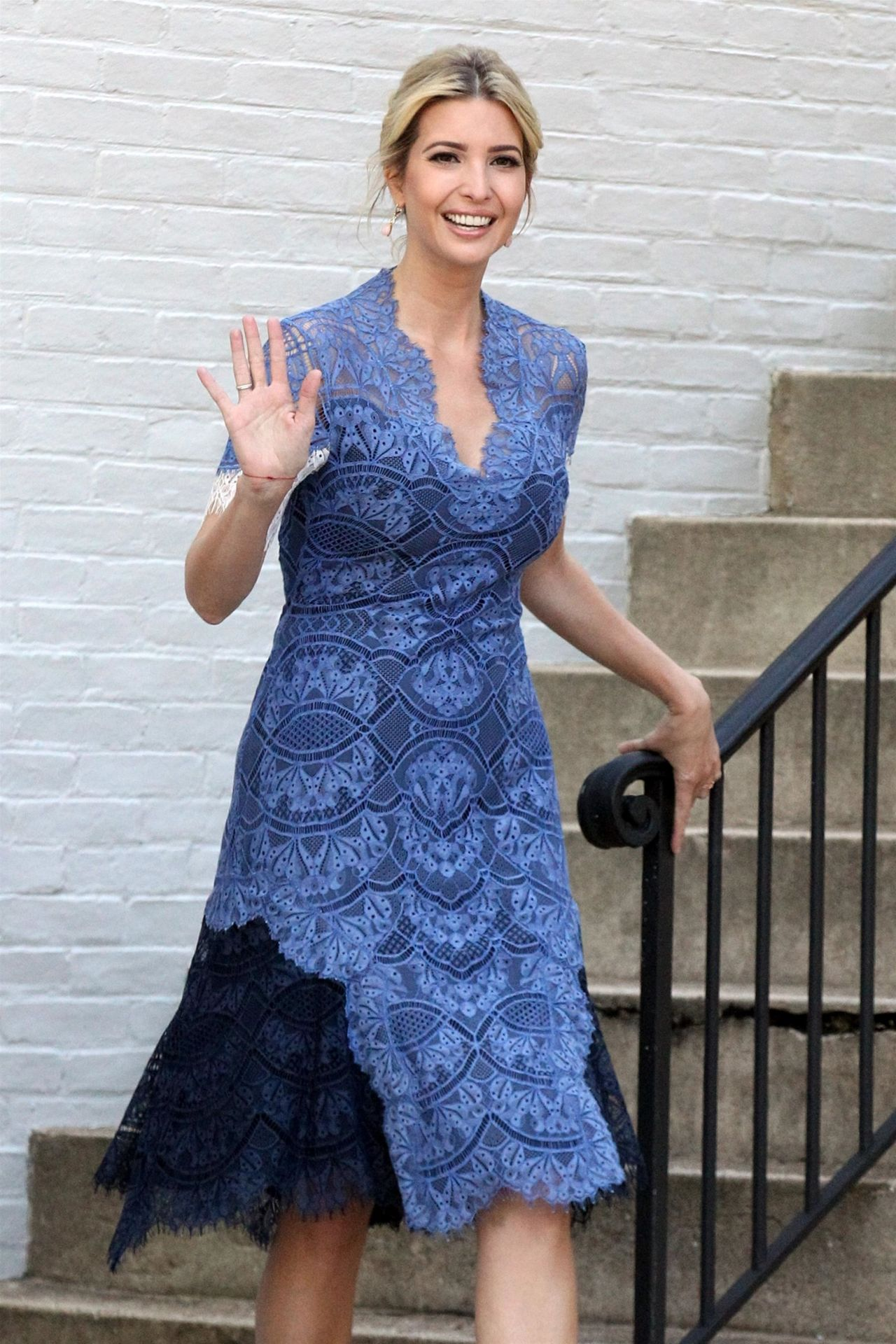 Ivanka Trump in a Blue Summer Dress - Washington, D.C. 07 ... Ivanka Trump
