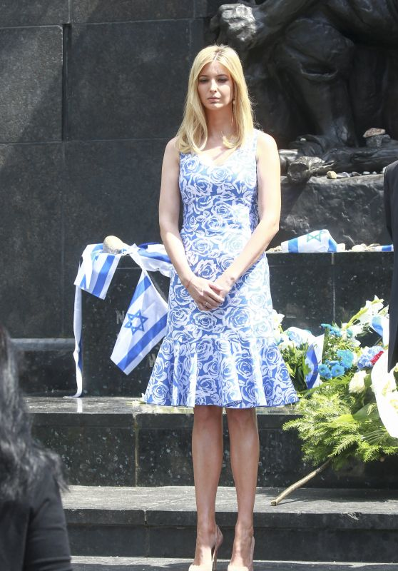 Ivanka Trump -Visits the Museum of Polish Jews and Lays Flowers at the Monument of the Warsaw Ghetto Heroes 07/06/2017