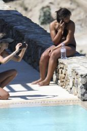 Izabel Goulart Bikini Candids - Pool Side in Mykonos 07/07/2017