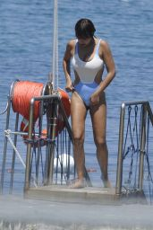 Jackie Cruz in a Swimsuit - Beach in Hotel Regina Isabella, Ischia 07/11/2017
