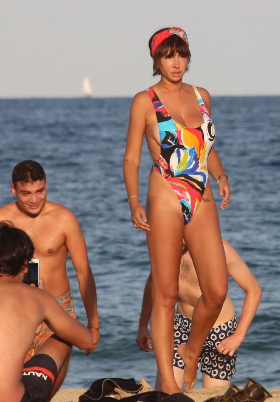 Jackie Cruz in Swimsuit - Beach in Barcelona 07/28/2017