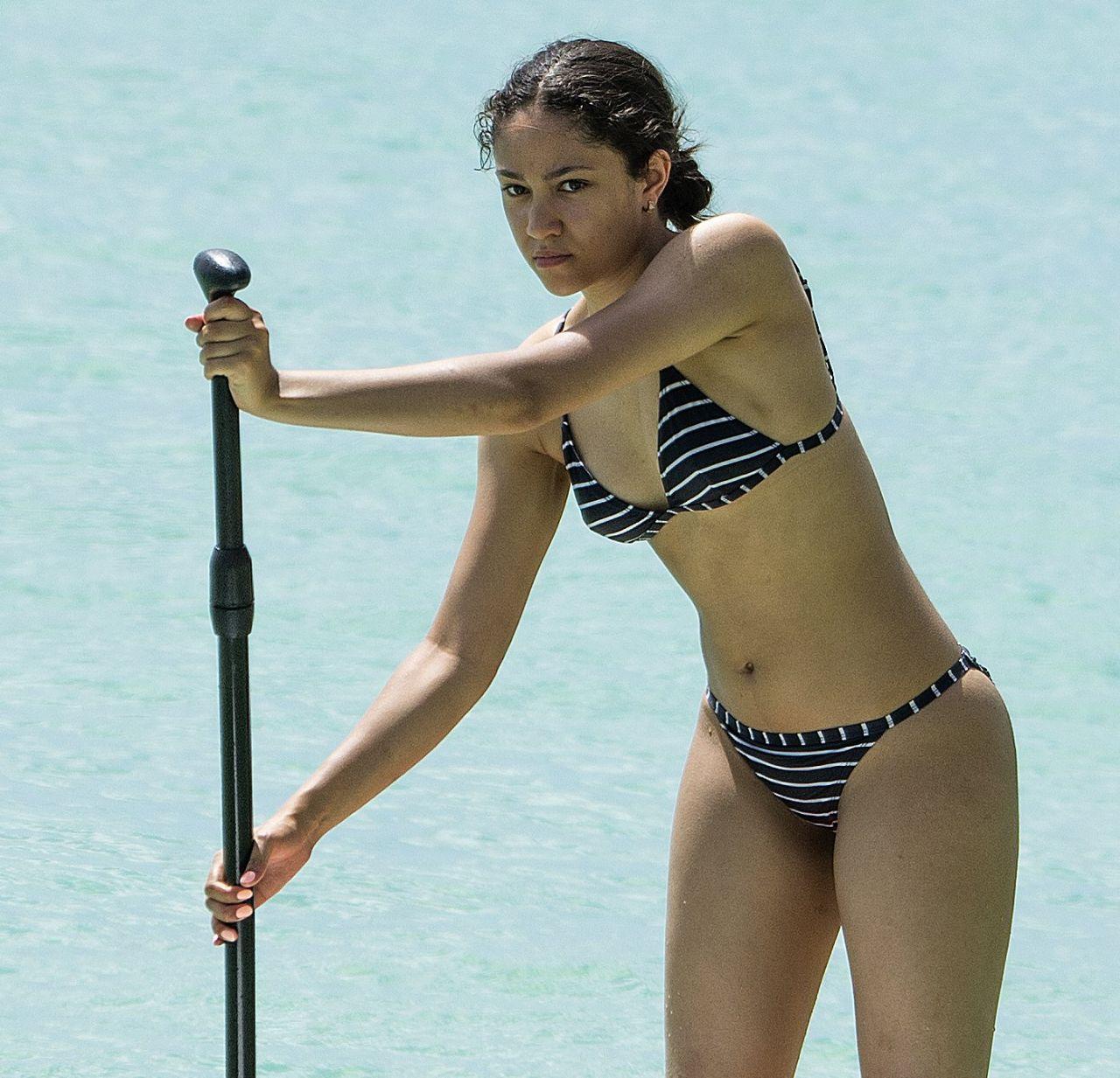 Jade Alleyne In Bikini On The Beach In Barbados 07 04 2017