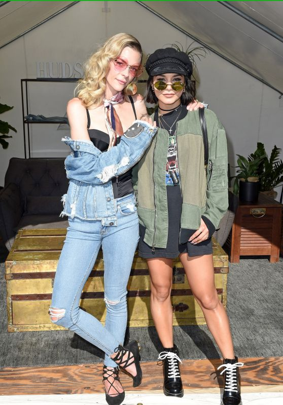 Jaime King and Vanessa Hudgens - The Hudson Jeans FYF Fest Style Lounge at Exposition Park in LA 07/23/2017