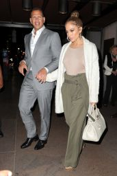 Jennifer Lopez and Alex Rodriguez - Leaving The Pool in New York City 07/27/2017