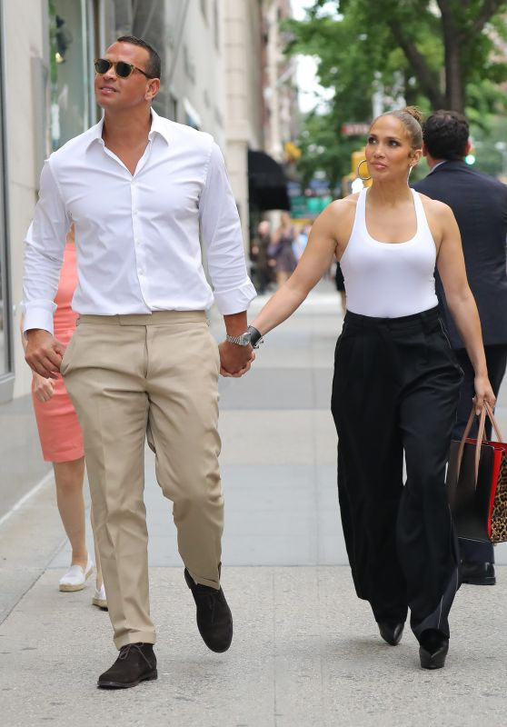 Jennifer Lopez and Alex Rodriguez on the Way to Dinner at Kappo Masa Restaurant in NYC 07/06/2017