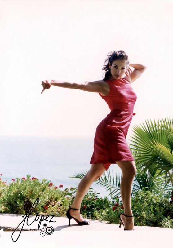 Jennifer Lopez in Red Dress - Photoshoot 1996