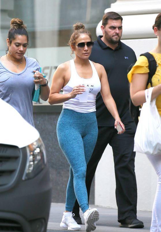 Jennifer Lopez in Tights - Los Angeles 07/21/2017