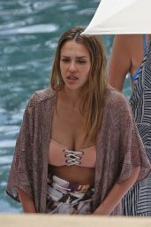Jessica Alba in a Bikini Top - Hawaii 07/16/2017