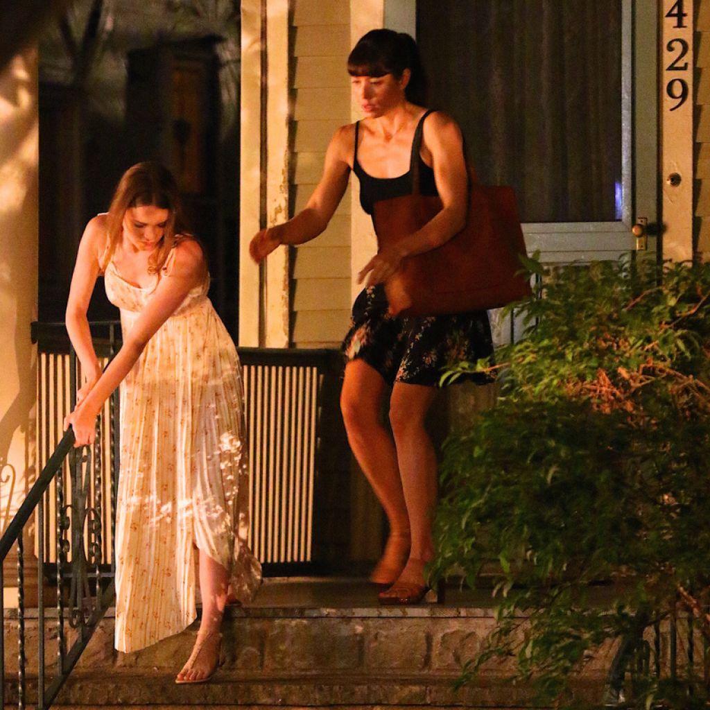 "Jessica Biel - ""The Sinner"" Filming in New York 07/28/2017 Jessica Biel The Sinner"