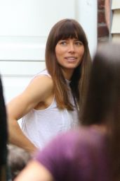 "Jessica Biel - ""The Sinner"" Filming in New York 07/28/2017"