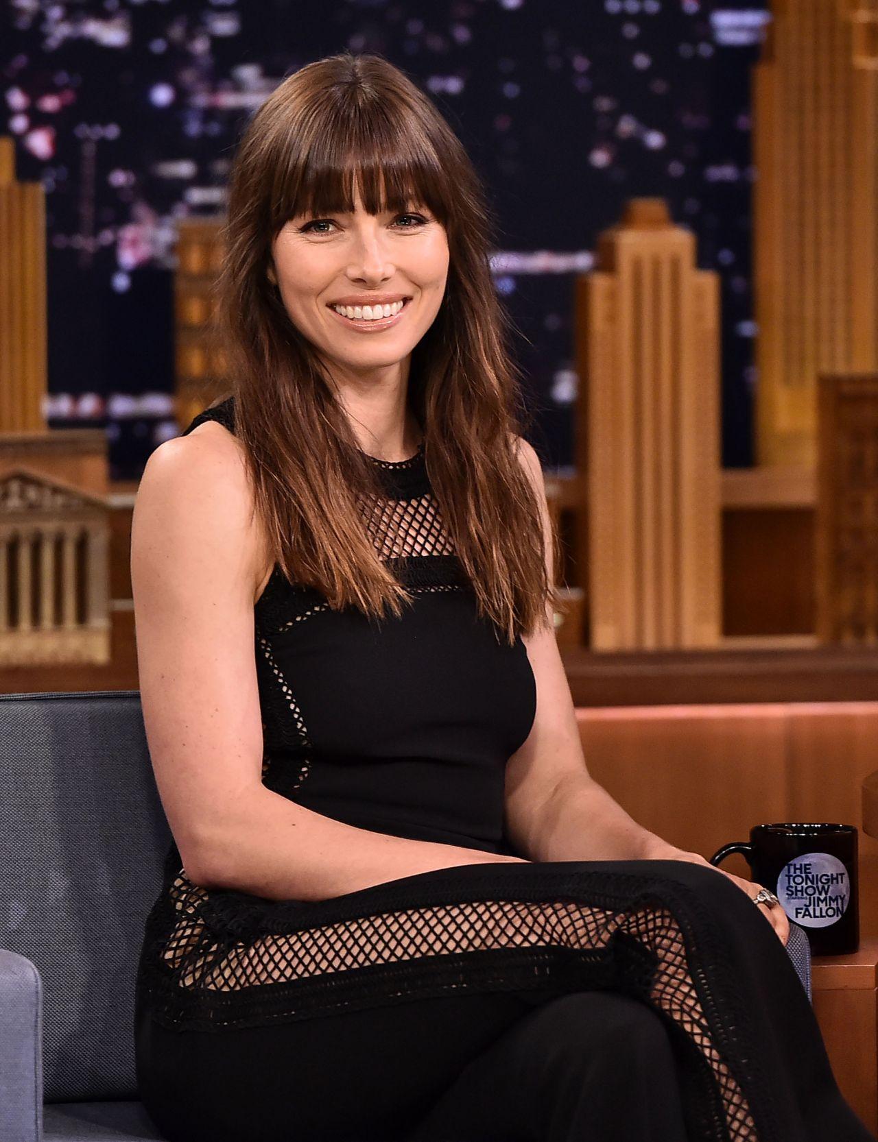 Jessica Biel - The Tonight Show Starring Jimmy Fallon in ...