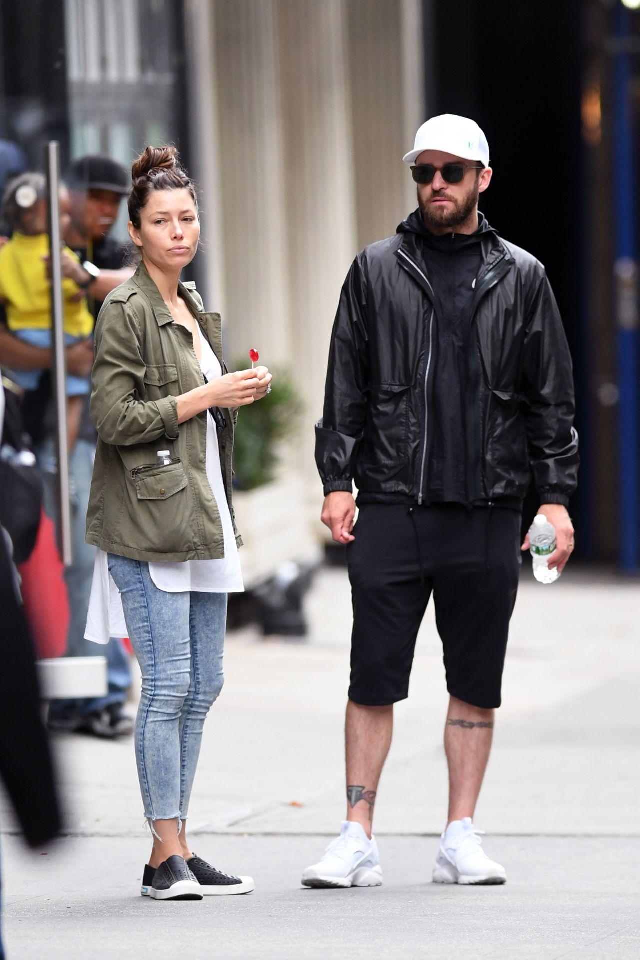 Jessica Biel With Justin Timberlake New York City 07 29 2017
