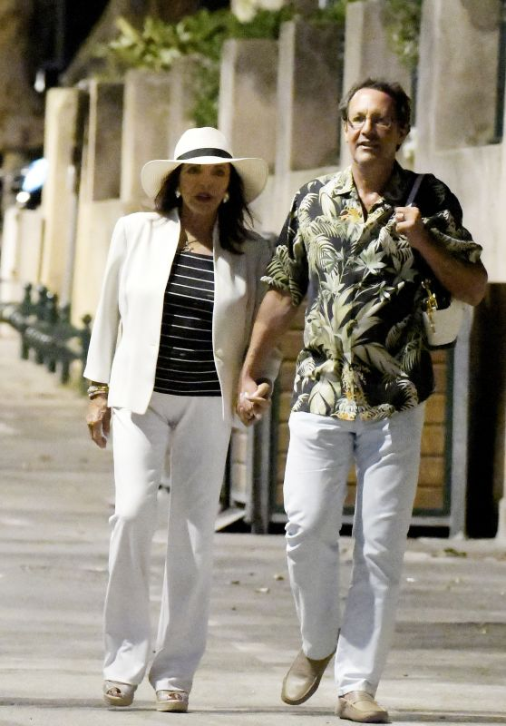 Joan Collins - Night out in Saint-Tropez, France 06/28/2017