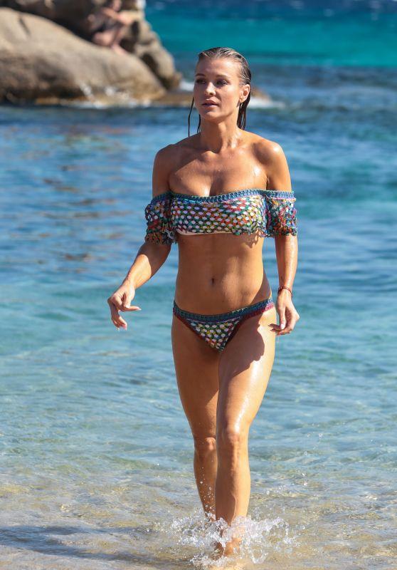 Joanna Krupa in a Bikini at a Beach on Mykonos 07/20/2017