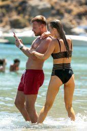 Joanna Krupa in Bikini - Beach on Mykonos Island, Greece 07/19/2017