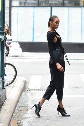 Jordan Dunn - Photoshoot in Soho, New York City 07/27/2017
