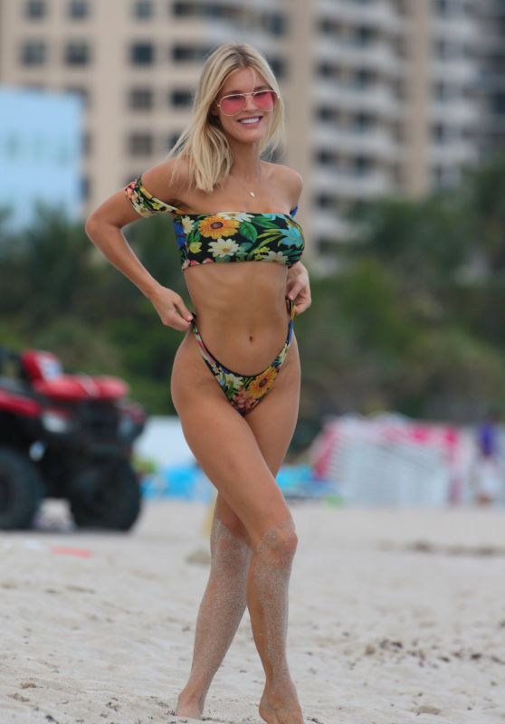 Joy Corrigan in a Green Bikini - Miami Beach, Florida 07/18/2017