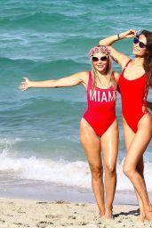 Julia Pereira and Daniela Albuquerque - Beach in Miami 07/15/2017
