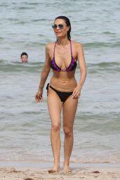 Julia Pereira and Her Sister Carla Pereira in bikinis in Miami Beach 07/25/2017