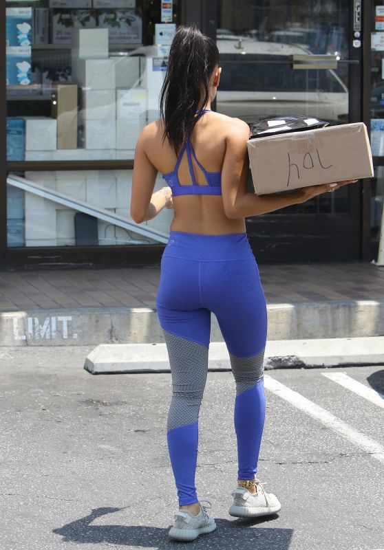 Karrueche Tran in Spandex - Out in West Hollywood 07/17/2017