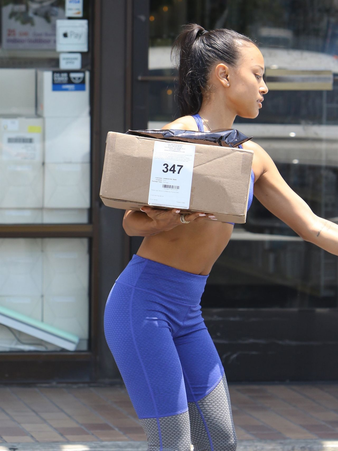 Karrueche tran in spandex out in west hollywood - 2019 year