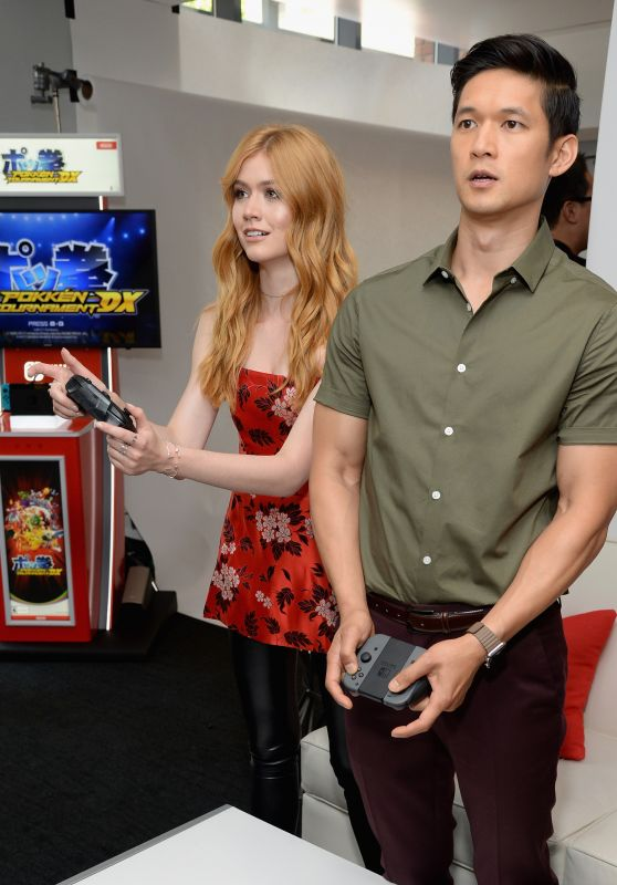Katherine McNamara & Harry Shum Jr. – Nintendo At The TV Insider Lounge At Comic-Con in San Diego 07/20/2017