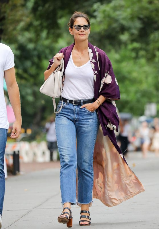 Katie Holmes Casual Style - New York 07/23/2017