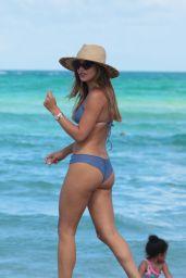Keleigh Sperry in Blue Bikini at the Beach in Miami 07/09/2017