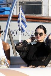 Kendall Jenner and Bella Hadid - Boat Trip on Nammos Beach in Mykonos 07/09/2017