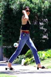Kendall Jenner in Casual Attire - Visiting a Friend in Beverly Hills 07/14/2017