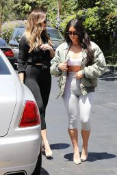 Kim Kardashian and Khloe Kardashian - Filming Their Reality Show at Chin Chin Restaurant in Studio City 07/26/2017