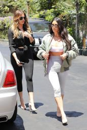 Kim Kardashian and Khloe Kardashian - Filming Their Reality Show at Chin Chin Restaurant in Studio City 07/26/2017