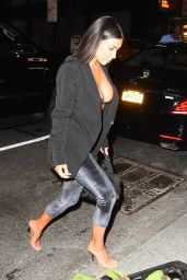 Kim Kardashian Style - Arrives to a Restaurant in Midtown for a Dinner in New York 07/10/2017