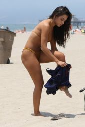 Krislian Rodriguez in Bikini - Beach in Santa Monica, CA 07/16/2017