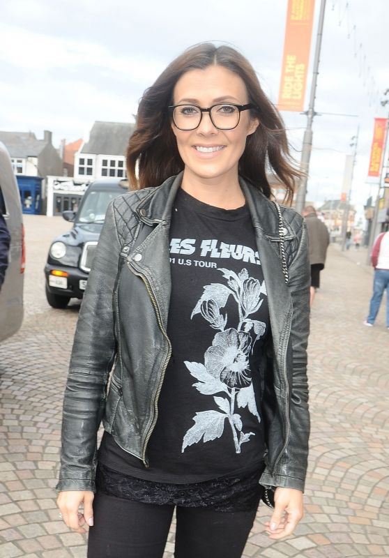 Kym Marsh in Blackpool to Watch the Darts 07/30/2017