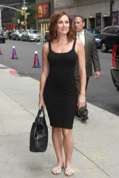 Laura Benanti Arrive to Appear on The Late Show With Stephen Colbert in NYC 07/24/2017