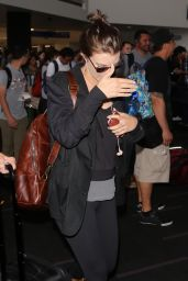 Lauren Cohan in Travel Outfit at LAX Airport in LA 07/25/2017