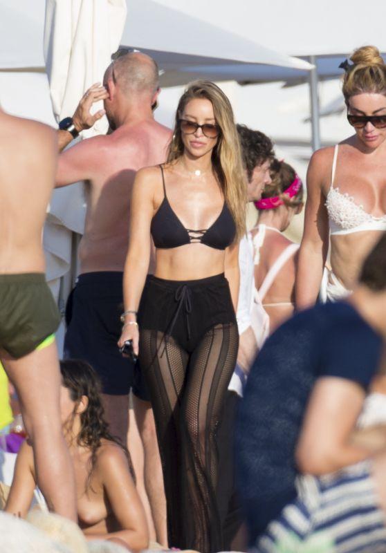 Lauren Pope - Enjoys a Sunny Evening - Beach Club in Ibiza 07/30/2017